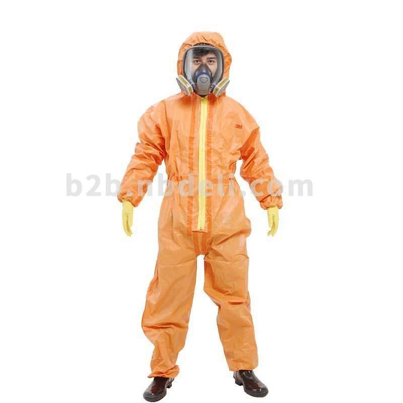 3M 4690 橙色带帽连体防护服(单位:件)